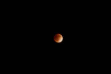 身延山山頂から見る皆既月食!